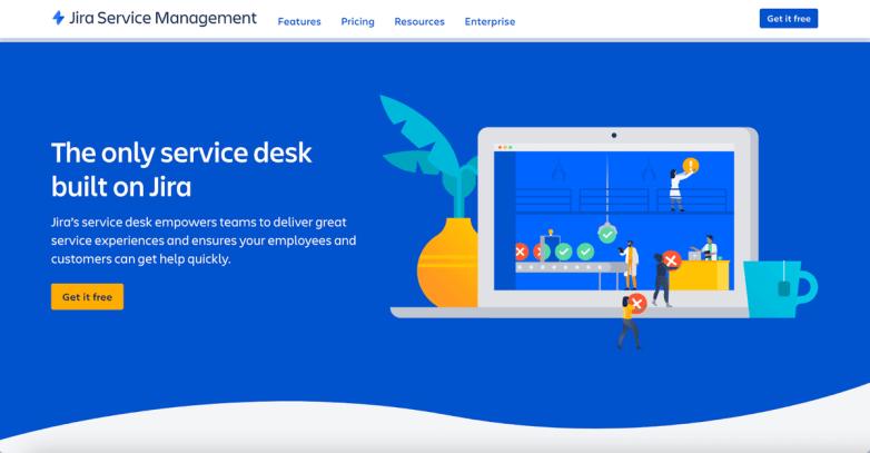 Jira Service Management homepage