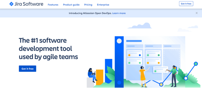 Jira Software homepage: The #1 software development tool used by agile teams