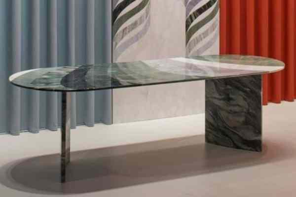 marbre doré table