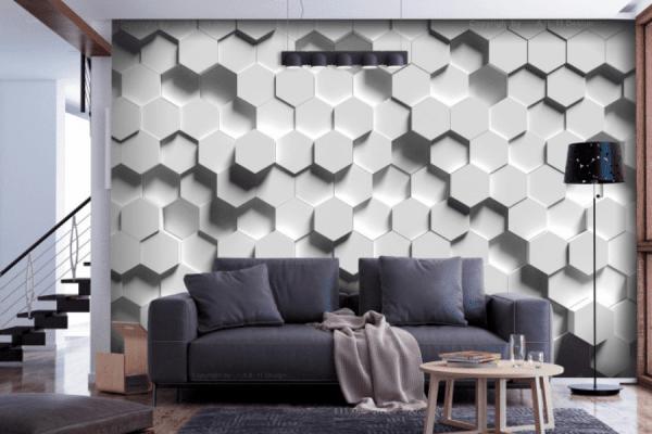 papier peint salon 3D