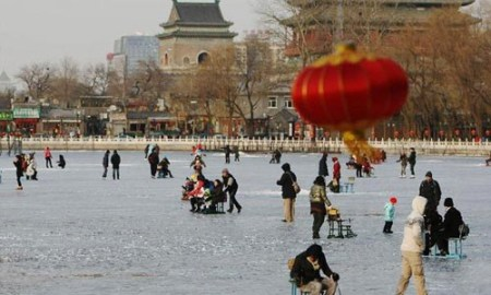 Here is Beijing   Tag Archive   beijing temperature People enjoy themselves on the frozen Shichahai lake in Beijing  capital of  China December