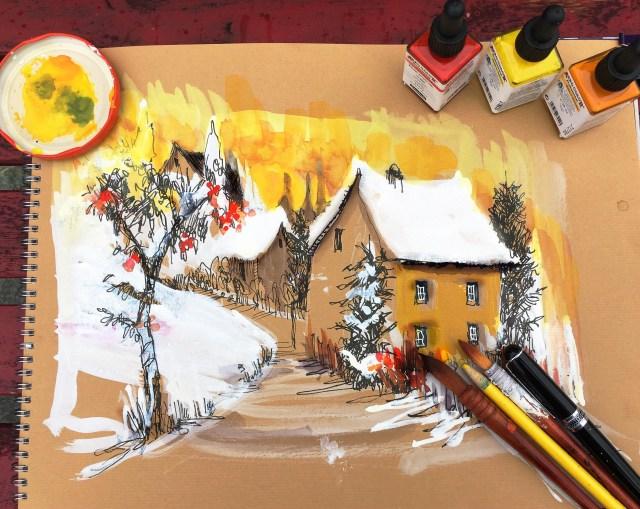 Tine Klein Skizzenbuch Malen lernen , Zeichnen lernen mit Aero Color Schmincke