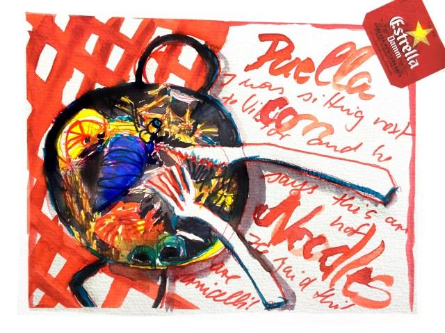 Urlaubserinnerungen Collage im Skizzenbuch von von Tine Klein für Aquarell, Skizzenbuch, Mallerei, Malen lernen, zeichnen lernen,