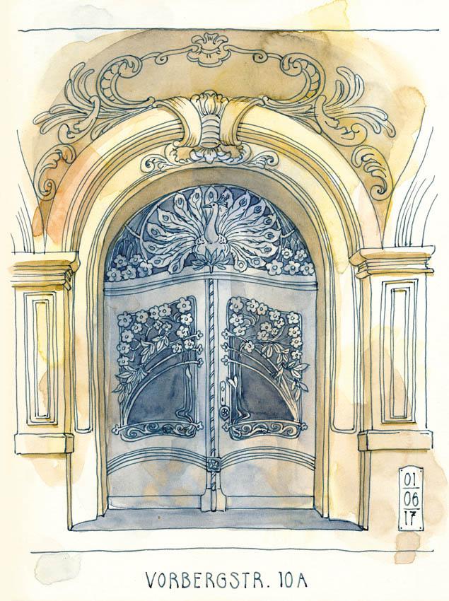 Katrin Merle, Urban Sketching im Blog Herz-der-Kunst
