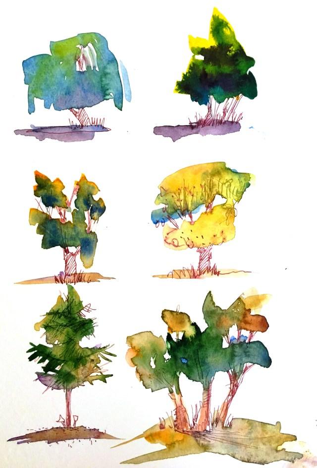 Bäume malen! Hingucker im Herbst. - Atelier Herz der Kunst