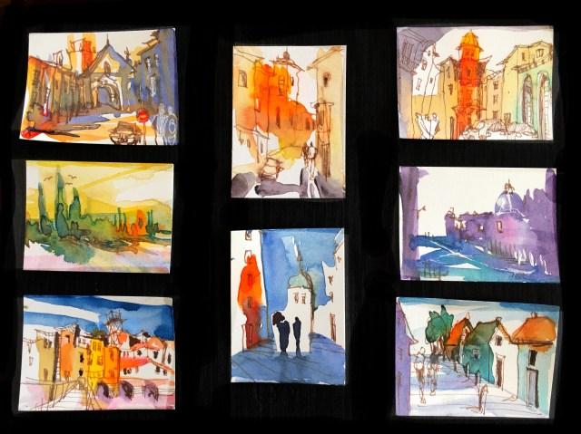 Tine Klein, frei malen, freie Malerei im Scheckkartenformat