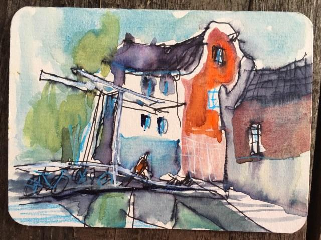 Malen lernen - die besten Tipps Hebebrücke in Amsterdam Tine Klein