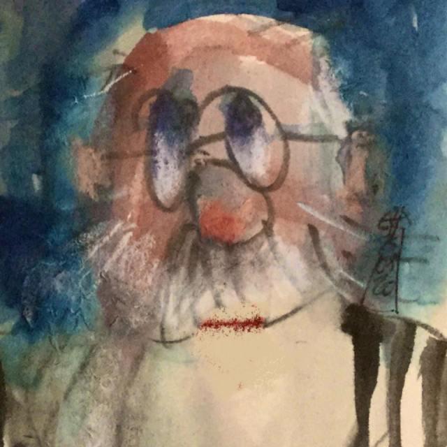 Selbst Portrait von Elmar Huxoll. Blog Herz-der Kunst