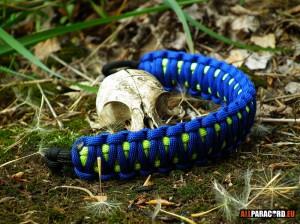 blue and neon green bracelet_2_allparacord.eu