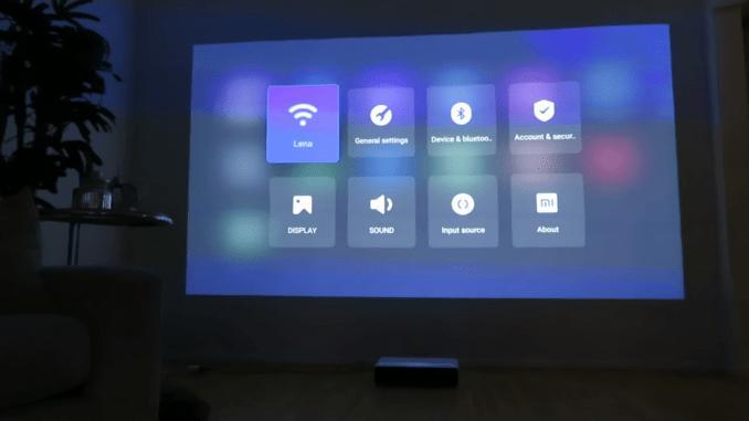 Menu Xiaomi Laser Anglais