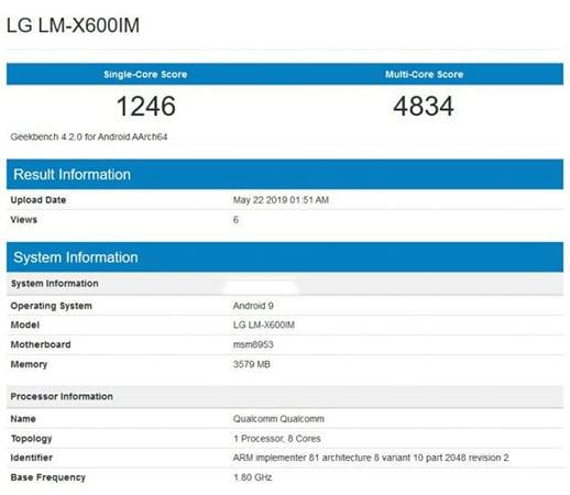 LG LM-X600IM