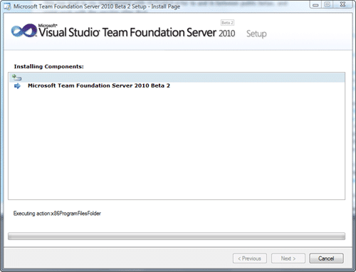 Microsoft Team Foundation Server 2010 Install - Install Page