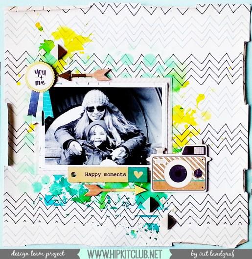 12*12 layout created by Irit Landgraf using the March Hip Kit Club kits #hipkitclub @hipkitclub #scrapbookingkit