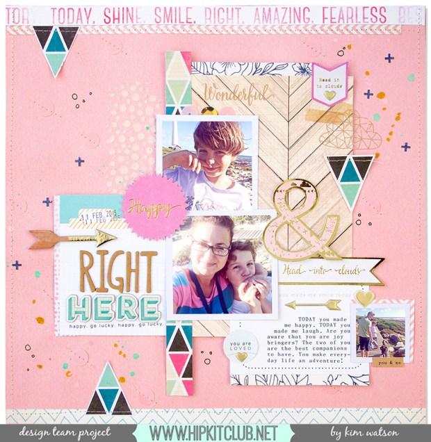 @HipKitClub @KimWatson @Pinkfresh studio #scrapbooking #12x12 #layout #hipkitclub @crate_paper  @American Crafts