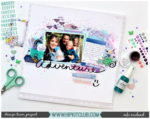 Adventure Niki Rowland Hip Kit Club Pinkfresh Studio Indigo Hills 2 Shimmerz Paints set