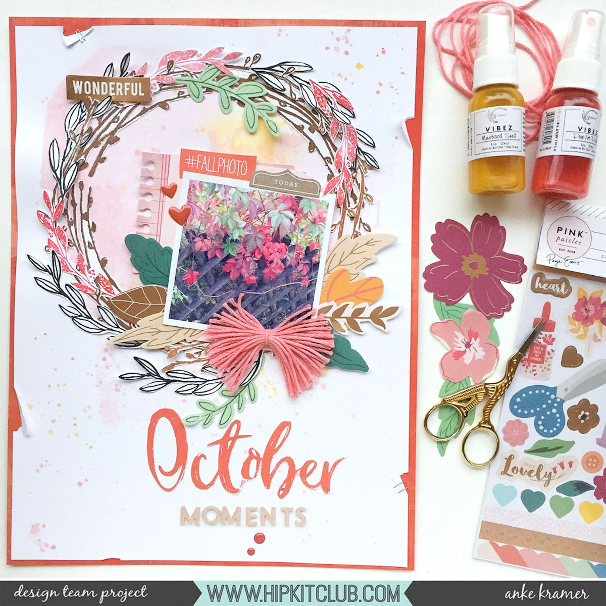 October Moments - Mixed Media Monday - Anke Kramer