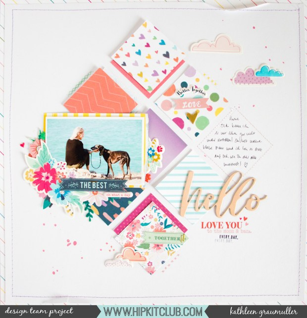 The Best by ScatteredConfetti. // #scrapbooking #hipkitclub #pinkpaislee #paigeevans