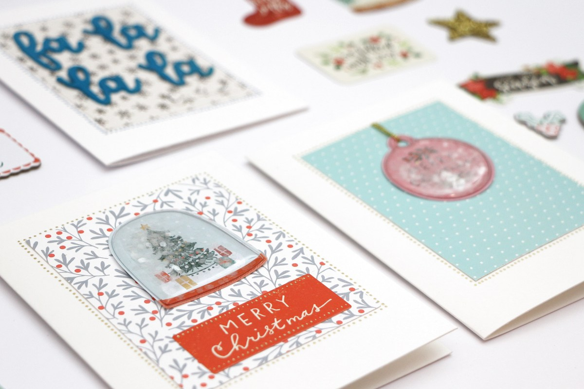 Christmas Cards using the December Documented Kit | Frau Pony