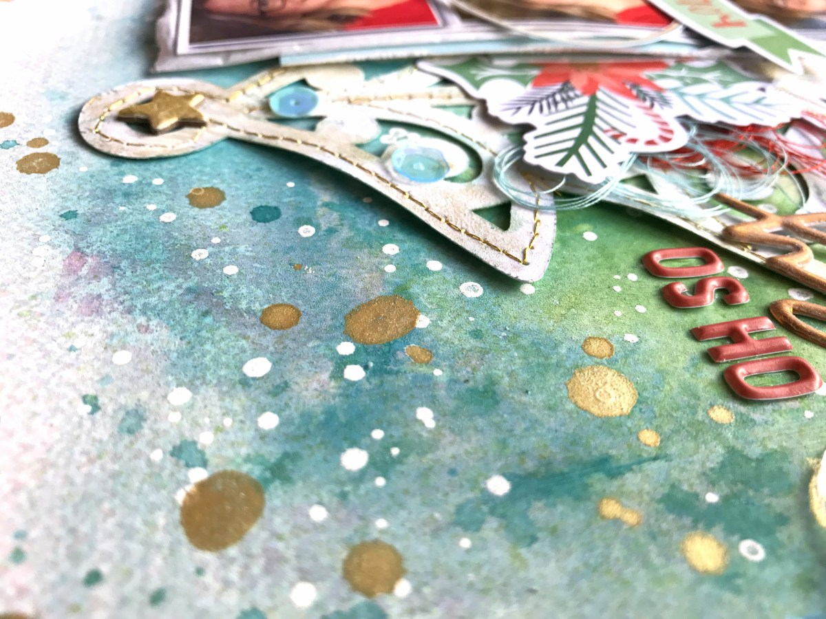 Mixed Media Christmas Layout | Missy Whidden