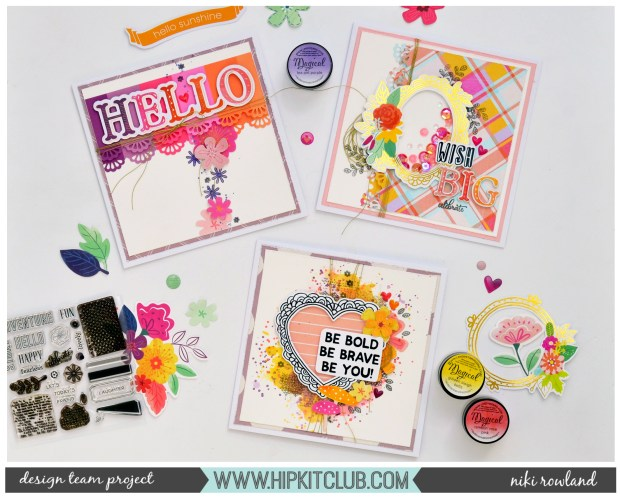 Cards Niki Rowland Hip Kit Club August 2019 Hip Kits Paige Evans Truly Grateful Pretty Little Studio Indian Summer set