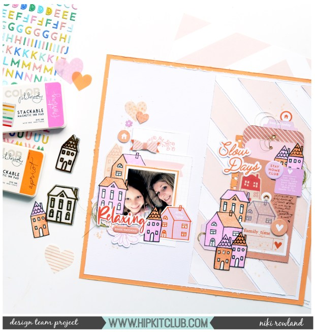 Slow Days Niki Rowland Hip Kit Club June 2020 Pinkfresh Studio Let's Stay Home stamping scrapbooking set