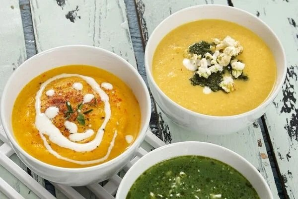 Sweetcorn Soup with Cumin Popcorn for world Veggie daySweetcorn Soup with Cumin Popcorn for world Veggie day