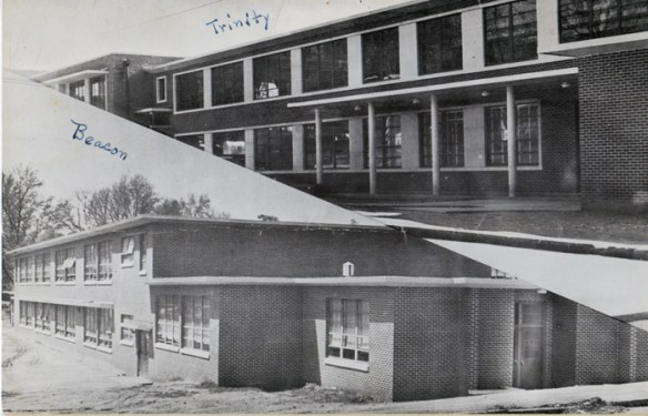 The Beacon elementary school (1955) and Trinity High School (1956) were built to replace the Herring Street School. Photo courtesy of Elizabeth Wilson.