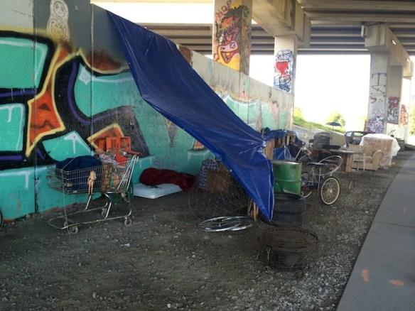 """Homeless camp,"" Atlanta Beltline, August 22, 2014."