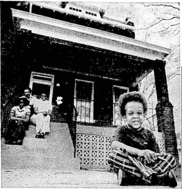 The same home in Northeast Washington after rehabilitation in the urban homesteading program. Credit: The Washington Star.