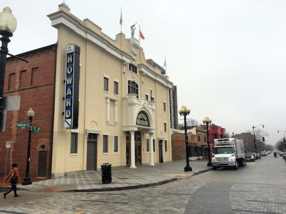 The Howard Theatre and former Holliday pool room, January 2016.