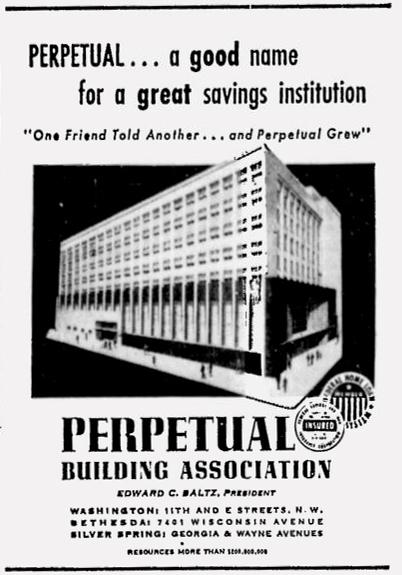 Perpetual Building Association advertisement, The Washington Afro-American, April 3, 1956.