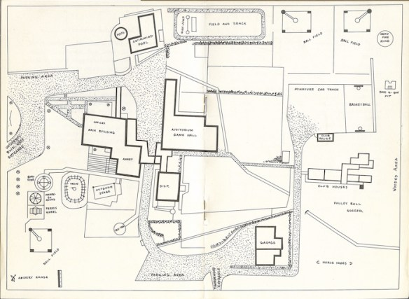 Alexander School and Camp site plan, c. 1958. Photo Courtesy of Sue Wrenn Dotson.