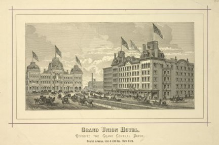 Grand Union Hotel advertisement. Credit: New York Public Library.
