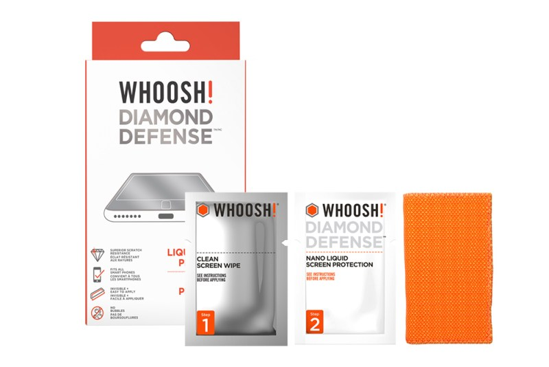 Inside the WHOOSH Diamond Defense packaging