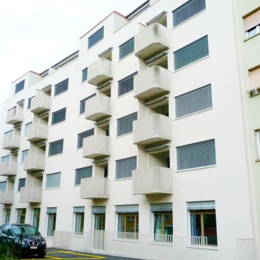 Fassade der Kreuzplatz Apartments