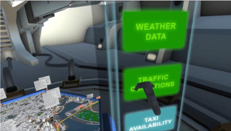 Selection of data display