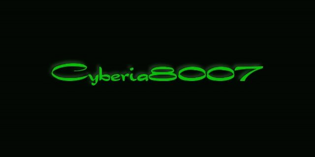 Cyberia8007 site header