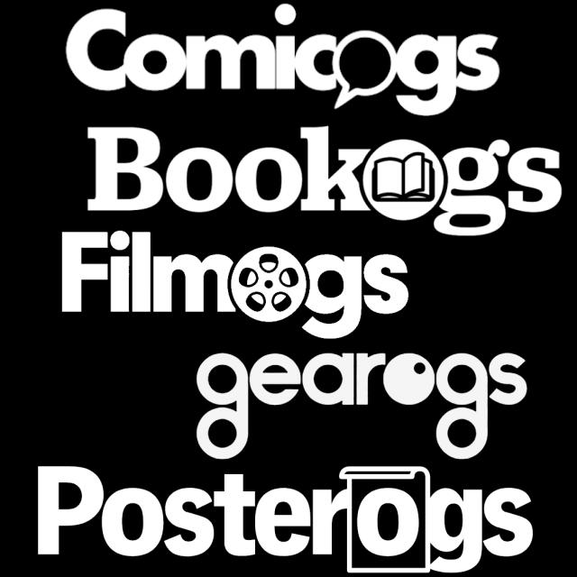 Bookogs, Comicogs, Filmogs, Gearogs and Posterogs logos