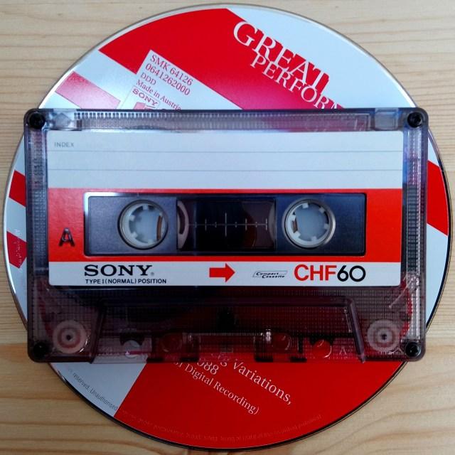 115mm cassette vs. 120mm CD