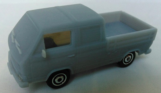 "This Volkswagen 1990 Crew Cab Transports, aka ""Doka"" is coming soon from Matchbox."