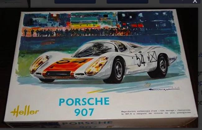 Heller Porsche 907 Daytona de Lespinay box art