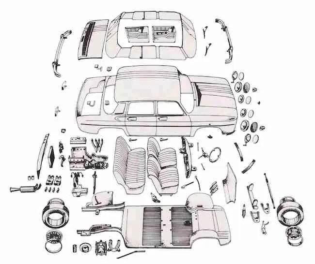 Heller AMT Renault R8 Gardini instructions