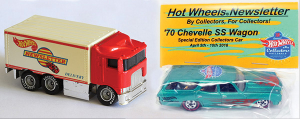 Hot Wheels Newsletter 70 Chevelle SS Wagon Hiway Hauler