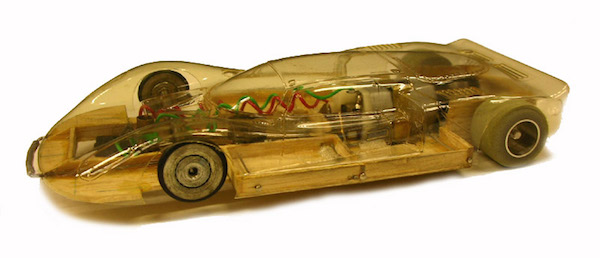 balsa wood alfa romeo 33 slot car