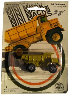 mini macks dump truck