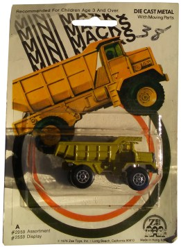 mini macks dump truck
