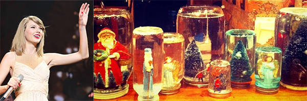 taylor swift snowglobes