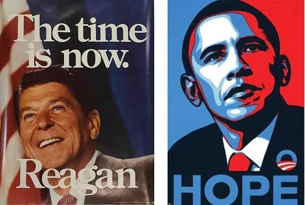 reagan obama poster