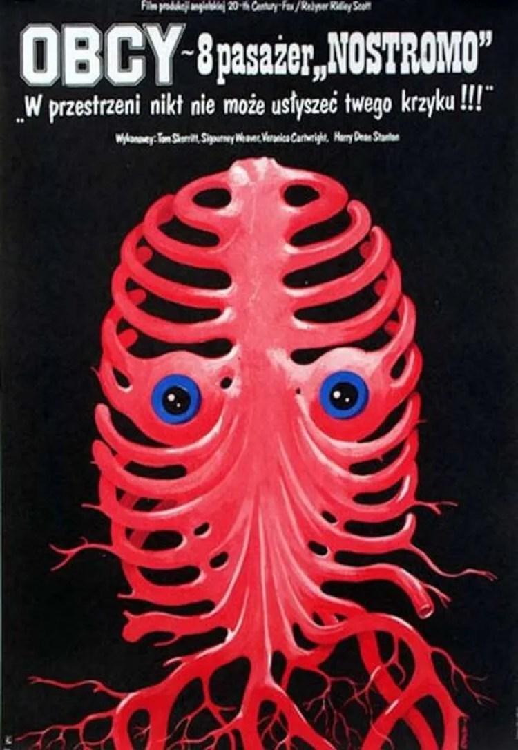 Alien 1 Poster Polish Face hugger