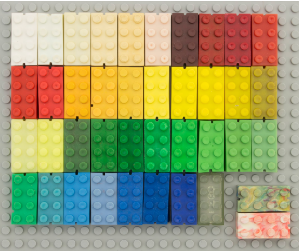 Lot Of 50 Lego Duplo Bricks Only 2 x 4 RED YELLOW BLUE LIGHT GREEN DARK GREEN 50